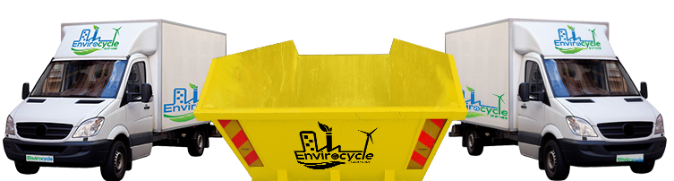 Skip and man with van Hire EnviroCycle